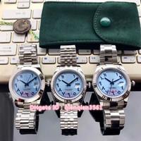 pulseiras árabes venda por atacado-3 Estilo Grande Dia-data Lce Blue Dial Algarismos Arábicos Gaivota Automático Mens Watch Sapphire Pulseira De Aço 316l de Alta Qualidade Novos Relógios