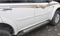 carro mitsubishi pajero venda por atacado-Chinês de alta qualidade! Pajero lado do carro barra de corrida pedais para Mitsubishi Pajero Sport 2013.2014. transporte BM velocidade rápida