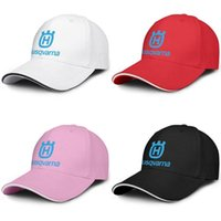 Wholesale hats sale logos resale online - Unisex Husqvarna Motorcycle logo Fashion Baseball Sandwich Hat baseball Classic Truck driver Cap Group H Logo lawn tractors for sale