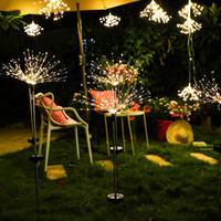 decoração solar exterior no xmas venda por atacado-luz fada natal luzes da corda Solar lâmpada Outdoor Jardim Lawn Firework Wedding Party luz Xmas Pátio Holidays Decor LED