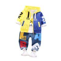 ingrosso ragazzi giacche di moda-New Fashion Kids Clothes Autunno Baby Boy Girl Jacket T-Shirt Pantaloni 2 pezzi / set Toddler Letter Abiti Bambini Abbigliamento sportivo casual