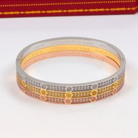 Wholesale 18k gold bracelet thin for sale - Group buy Luxury Design full cz bracelets for men women thin full diamond Screwdriver love bracelet fashion couple cuff jewelry with velvet bag