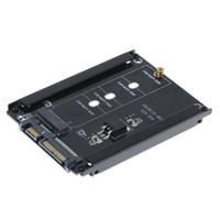 sata 6gb ssd toptan satış-M.2 SSD adaptör M2 SATA adaptör NGFF M.2 anahtar b dönüştürücü M2. Soketli 2.5 SATA 6Gb / s Güç Konektörü Kartı