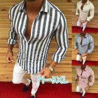 şeritli erkek kıyafeti gömlekleri toptan satış-Erkek Resmi Gömlek Erkekler Çizgili Elbise Tasarımcısı Casual Lüks Gömlek Düzenli Fit Gömlek