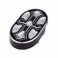alumínio cnc venda por atacado-Pedal CNC alumínio Billet Brake Pad Capa footpeg para Sportster XL883 XL1200 Dyna Fat Bob Softail V-Rod Street Night Rod