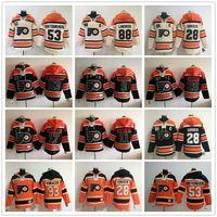 moletons hockey hoodies venda por atacado-Philadelphia Flyers Stadium Series hoodies Claude Giroux Gostisbehere Wayne Simmonds Voracek Ivan Provorov Lindros Hockey Moletons Jersey