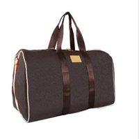 reise totes gepäck großhandel-2019 Männer Seesack Frauen Taschen Handgepäck Luxus-Designer-Reisetasche Männer PU-Leder-Handtaschen große Umhängetasche Totes 55cm reisen