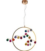 ingrosso agata le fette-Ingresso creativo personalità balcone Agate Slice anello lampadario moderno corridoio conciso piccolo lampadario LLFA