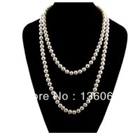 Wholesale womens vintage collar necklace for sale - Vintage Style Imitation Pearl Long Sweater Chain Beads Charm Statement Choker Collar Necklaces Pendants Womens DIY Z1517
