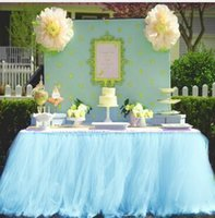 настольные юбки для свадеб оптовых-Европейские и американские пушистые скатерти на день рождения свадьба вывески столы скатерти