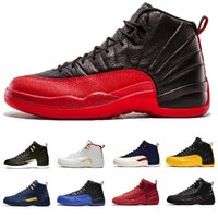 Wholesale retro 12 low for sale - Group buy Mens s basketball shoes Game Royal air Taxi HOT PUNCH NYLON Gym Red Flu Game Taxi sports sneaker retro trainers size