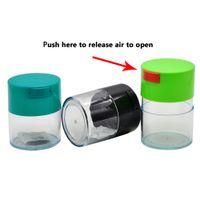 plástico usado venda por atacado-3 diferentes capacidades Airtight Multi-Uso selo de vácuo portátil recipiente de armazenamento para a seco Herb Tobacco plástico acrílico Stash armazenamento Jar Box