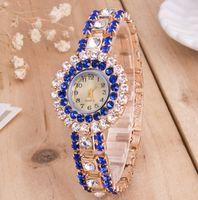 vestido tops al por mayor-2019 Top Rhinestone Bracelet Watch Mujeres Relojes Fashion Lady Quartz Watch Elegant Women Dress Relogio Gift Watch Mujer Lady Montre