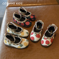 Wholesale dresses shoes toddler for sale - Group buy Kid Shoes Autumn Baby Girls Dress Shoes Toddler New Sweet Strawberry Mary Jane Flats Kids Fashion Rivets Pu Leather