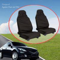 Waterproof Universal Car Van Front Heavy Duty Black Protectors Seat Covers UK