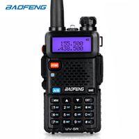 vhf radio uv 5r venda por atacado-BaoFeng walkie talkie UV-5R em dois sentidos cb rádio versão de atualização baofeng uv5r 128CH 5 W VHF UHF 136-174 Mhz 400-520 Mhz