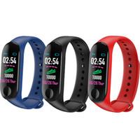 xiaomi fitbit toptan satış-M3 Akıllı Bant Bilezik Kalp Hızı Izle Aktivite Spor Izci Pulseira Relógios Reloj Apple Xiaomi Için Intel Intel Intente PK Fitbit Izle