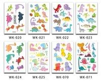 dinozor çıkartmaları toptan satış-Eğlenceli Dinozor Geçici Dövme Çıkartma Parti Iyilik Goodie Çantaları Çocuk Doğum Günü Karikatür Hayvan Su Geçirmez Dövme Etiket Dekorasyon hediye