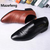 zapatos formales marrones nuevos al por mayor-Mazefeng 2019 New Black Brown Formal Shoes Men holgazanes zapatos de vestir de boda para hombre de charol Oxford para hombres Chaussures