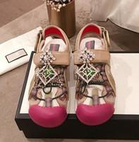 Wholesale designer diamond heels for sale - Group buy Classic Sandals Shiny Diamonds Lady Summer Women Unisex Designer Sandals Rhinestone Genuine leather Sexy Comfortable TPU Shoes