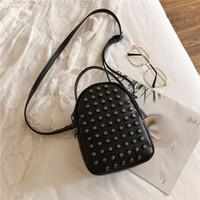 Wholesale phone zip for sale - Group buy 2020 Women Crossbody Mobile Phone Shoulder Bag Pouch Case Rivet Handbag Satchel Purse Wallet Zip Casual Handbags Fashion