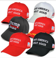 Wholesale caps baseball resale online - hot sale Make America Great Again Hat Donald Trump Republican Snapback Sports Hats Baseball Caps USA Flag Mens Womens Fashion Cap AC53