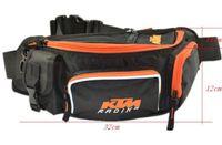 motosiklet bel çantaları toptan satış-Toptan bel paketi messenger çanta KTM motosiklet göğüs paketi çok fonksiyonlu binmek çanta bisiklet bel paketi bacak çantası