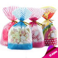 rosa plastikfolie großhandel-Bonbontüte Verpackung Für Süßigkeiten Bonbontüten Transparent Kunststoff Ostern Geburtstag Hochzeit Geschenkpapier Rosa