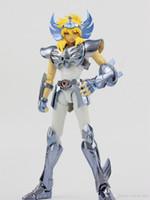 figuras de acción saint seiya al por mayor-Cygnus HYOGA Final Cloth EX Metal Armor GREAT TOYS GT EX Bronce Saint Seiya Myth Cloth Figura de acción