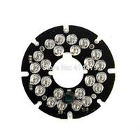 éclairage caméra pc achat en gros de-2 PCS / Lot 24 PCS LEDs 5mm Infrarouge IR 90 Degrés Ampoules Lumière Conseil 850nm Pour Caméra De Sécurité CCTV