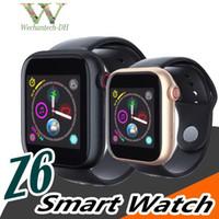новейшая интеллектуальная камера для часов оптовых-Новые Z6 SmartWatch для Apple Iphone Женщины Smart Watch Bluetooth 3.0 Часы с камерой Поддерживает SIM-карту TF для Android-смартфона