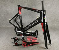 Wholesale headset clamp for sale - Group buy Black Red Colnago Concept carbon road Frames Fork Seatpost Headset Clamp Handlebar Saddle Water Bottle cages package for sale
