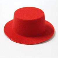 Wholesale mini top hat felt resale online - 10pcs cm Felt Cloth Mini Top Hat DIY Party Home Decor Mini Hat Fashion Jewelry Accessories