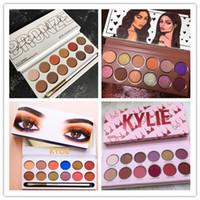 kalem göz farı toptan satış-En kaliteli 12 Renk ile kylie Kraliyet Şeftali Paleti Göz Farı Kalem Fırça Kozmetik Göz farı Kylie Jenner 12 renk Göz Farı Paleti Kyshadow