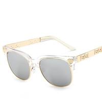 renkli gözler toptan satış-Kadınlar vintage yuvarlak çerçeve güneş gözlüğü baskılı erkekler kafaları renkli türleri hollow desen seyahat gözler koruma iyi arkadaşlar hediyeler LJJQ189