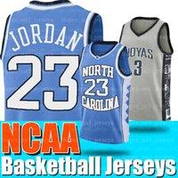 ingrosso north carolina maglia 23 di basket-Maglie basket NCAA North Carolina 23 Michael Jersey Allen 3 Iverson Georgetown Hoyas College
