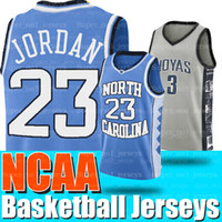 maillot de basketball caroline du nord 23 achat en gros de-NCAA Caroline du Nord 23 Michael Jersey Allen 3 Chandails de basket-ball College de Iverson Georgetown Hoyas