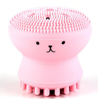Wholesale cleansing skin care resale online - Silicone Face Cleansing Brush Cute Octopus Shape Facial Cleanser Pore Cleaner Exfoliator Face Scrub Washing Brush Skin Care