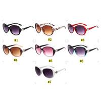 belles lunettes de soleil pour les femmes achat en gros de-Lunettes de soleil tendance pour femmes 8016 Grandes lunettes de soleil rondes pour le visage