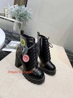 Wholesale thick sole round toe boots resale online - 2019 Autumn Women Ankle Boots leather thick Sole Heels Black Lace up Women Boots Ladies Boots Shoes