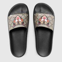 Wholesale women black flat booties for sale - Group buy High Quality men women designer sandals Designer Shoes Luxury Slide Summer Fashion Wide Flat Slippery Sandals Slipper Flip Flop