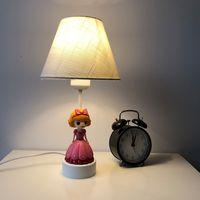 Wholesale girl toys plugs online - E27 Princess Prince desk lamp boy girl Kid Bedroom toy Store Household kindergarten grow together series of DsQi us plug E26