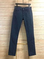 novas tendências moda jeans venda por atacado-19ss Primavera e no verão, nova tendência jeans Victory dedo jeans de luxo, homens e mulheres de impressão completa antiquado jeans ZDL 89.