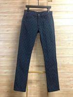 dedo de primavera al por mayor-19ss Primavera y verano, nueva tendencia Victory jeans jeans de diseño de lujo, hombres y mujeres Jeans antiguos ZDL 89 con estampado completo.