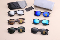 ingrosso borse per occhiali-2019 Occhiali da sole di marca Vintage tom Eyeglass Pilot wayfarer Occhiali da sole UV400 Uomo Donna Ben Lenti in vetro con custodia Scatola 8670