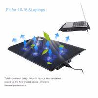 soğutma bazlı dizüstü bilgisayar toptan satış-Freeshipping 6 Hayranları USB Dizüstü Soğutucu Taban Rahat Ergonomik Tasarım Süper Dilsiz Dizüstü Dizüstü Fan Plakası daha az 15.6 inç Dizüstü