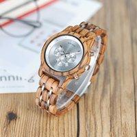 relógios de pássaro de quartzo venda por atacado-Bobo bird new relógios de madeira das mulheres miyota movimento relógio de quartzo presente para senhoras com caixa de madeira b-p18 y19062402