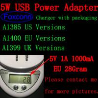 gç bankası ambalajlaması toptan satış-10 adet / grup 100% Orijinal OEM Kalite A1400 A1385 AB ABD İNGILTERE Tak USB AC Güç Adaptörü Duvar Şarj Ile paket Ile iX XS 6 7 8 ...