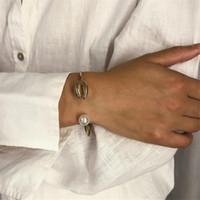 ingrosso braccialetti di cuoio bocchini metallici-GIVVLLRY Bracciale con braccialetti barocco polsini Gioielli moda Bohemian Beach imitazione perline in metallo con braccialetti di fascino per le donne