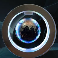 Wholesale desktop globe resale online - Floating Globe Office Auto Rotating Magnetic Levitation Led Anti gravity Illuminated Desktop Earth Gift Inch Home Decorative